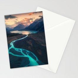 Mount cook national park Stationery Cards