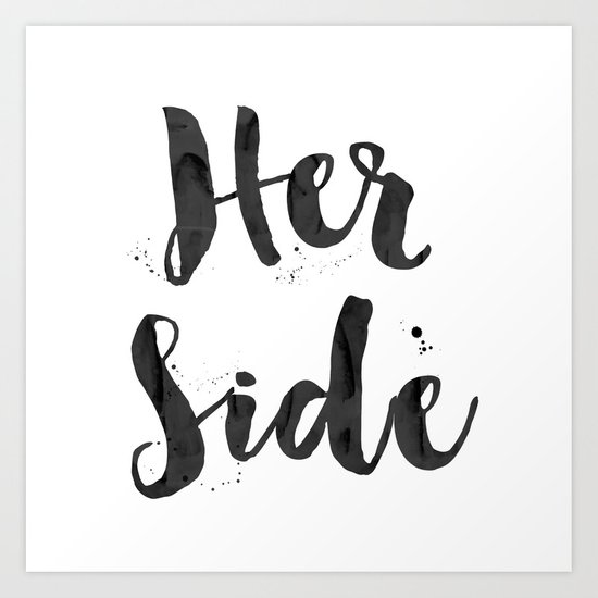 her side Art Print