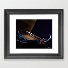Lonely Soldier Sailor Saturn Framed Art Print