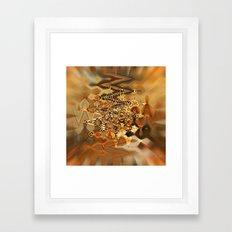 Golden Retro Shimmer Chandelier Framed Art Print