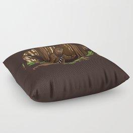 The Bigfoot of Endor Floor Pillow