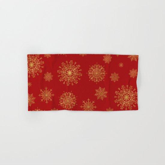 Assorted Golden Snowflakes Hand & Bath Towel
