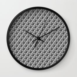 Floral Black and White Wall Clock