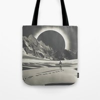 interstellar Tote Bags featuring Interstellar by Douglas Hale