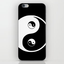 Ying yang the symbol of harmony and balance- good and evil iPhone Skin