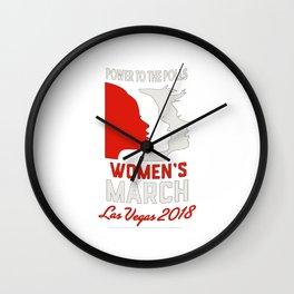 Women's March Power To The Polls Las Vegas 2018 Wall Clock