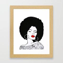 Red Lips Framed Art Print