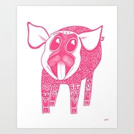 Puggy Bank Art Print