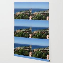 Seaside Coastal Villa Wallpaper