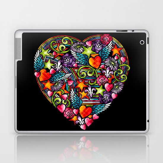 my heart has wings Laptop & iPad Skin