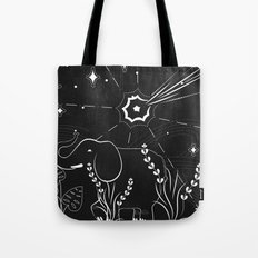 Elephant and comet Tote Bag