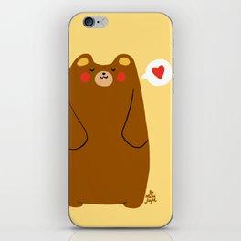 Bear heart for you iPhone Skin