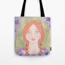 Anemone Girl Tote Bag