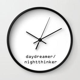daydreamer / nightthinker Wall Clock