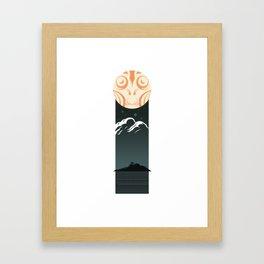 Omen Over Devil Reef Framed Art Print
