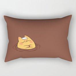 Coffee Tea Onsen Cat Rectangular Pillow