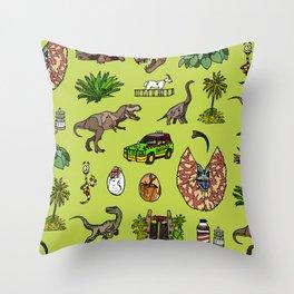 Jurassic pattern lighter Throw Pillow