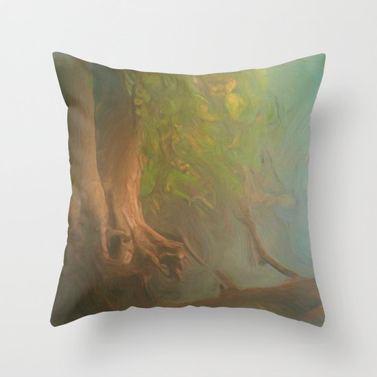Gnarled and Broken Throw Pillow