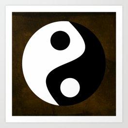 Yin and Yang - Brown Art Print