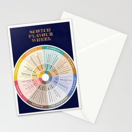 Scotch Flavour Wheel Stationery Cards