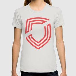 third. Shield - Red T-shirt
