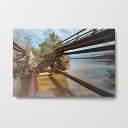 Dilapidated Lock Metal Print