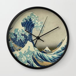 Vintage poster - The Great Wave Off Kanagawa Wall Clock