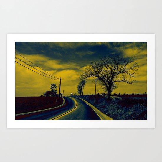 Rural road Art Print