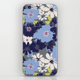 Ava Summer Blue iPhone Skin