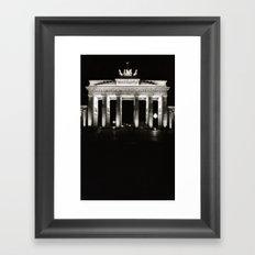Light Pillars Framed Art Print