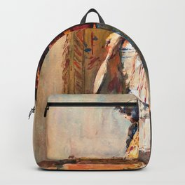 Mariano Fortuny - A Moroccan Woman In Traditional Dress - Digital Remastered Edition Backpack