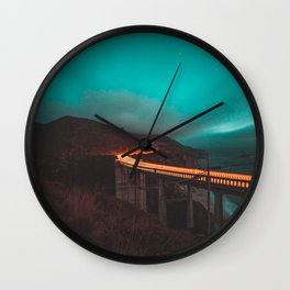 Bixby Bridge Light Trail Wall Clock