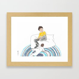 Morning Routine 2 - Getting dressed Framed Art Print
