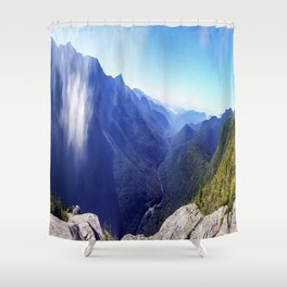 Old Man's View Shower Curtain