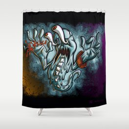 Idle Ghost Hands 1 Royal Stain Shower Curtain