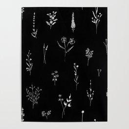 Black wildflowes Big Poster