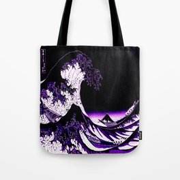 The Great Wave : Purple Tote Bag
