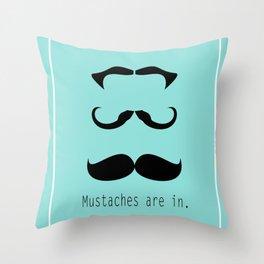 Mustache 3 of a Kind Throw Pillow