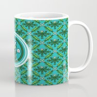 8bit Mugs featuring 8bit Deco by Bubblegun