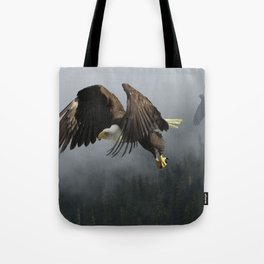 Vision Quest - Bald Eagle & Mists Tote Bag
