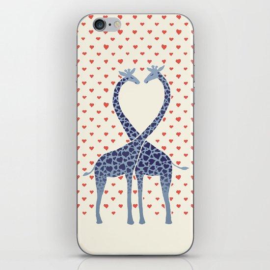 Giraffes in Love - a Valentine's Day illustration iPhone & iPod Skin