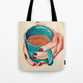 Hands Around A Coffee Mug Original  Tote Bag