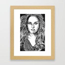 Kristen Stewart portrait Framed Art Print