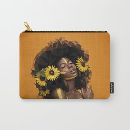 Sunflower Woman Carry-All Pouch
