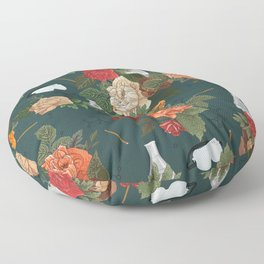 Chemistry Floral Floor Pillow