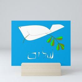 White Dove of Peace, Shalom Mini Art Print