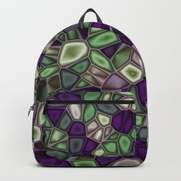 Fractal Gems 02 - Purples and Greens Backpack