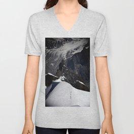 Mont Blanc Massif Unisex V-Neck