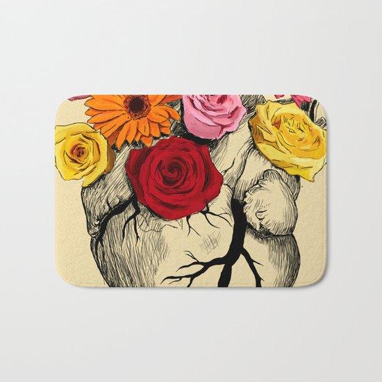 Flower Heart Bath Mat