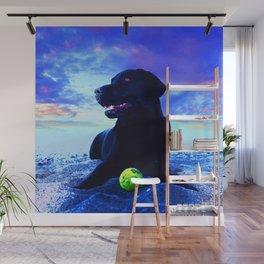 Ziggy Black Labrador Wall Mural